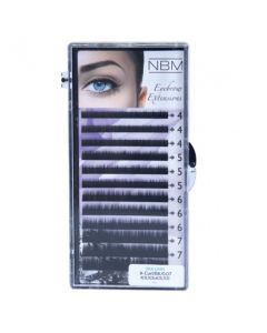 BDC Eyebrow Lashes Flat-Curl 0,07 Mix dark  brown