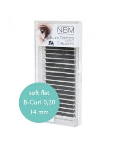 BDC Soft Flat Silk Lashes B-Curl 0,20 - 14 mm